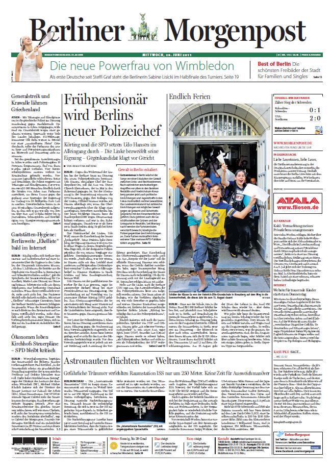 Berliner Morgenpost 29 06 2011
