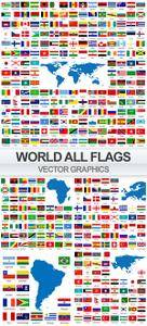 Stock Vector World Flags