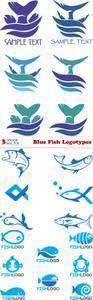 Vectors - Blue Fish Logotypes