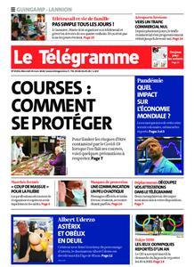 Le Télégramme Guingamp – 25 mars 2020