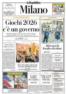 la Repubblica Milano - 8 Ottobre 2019