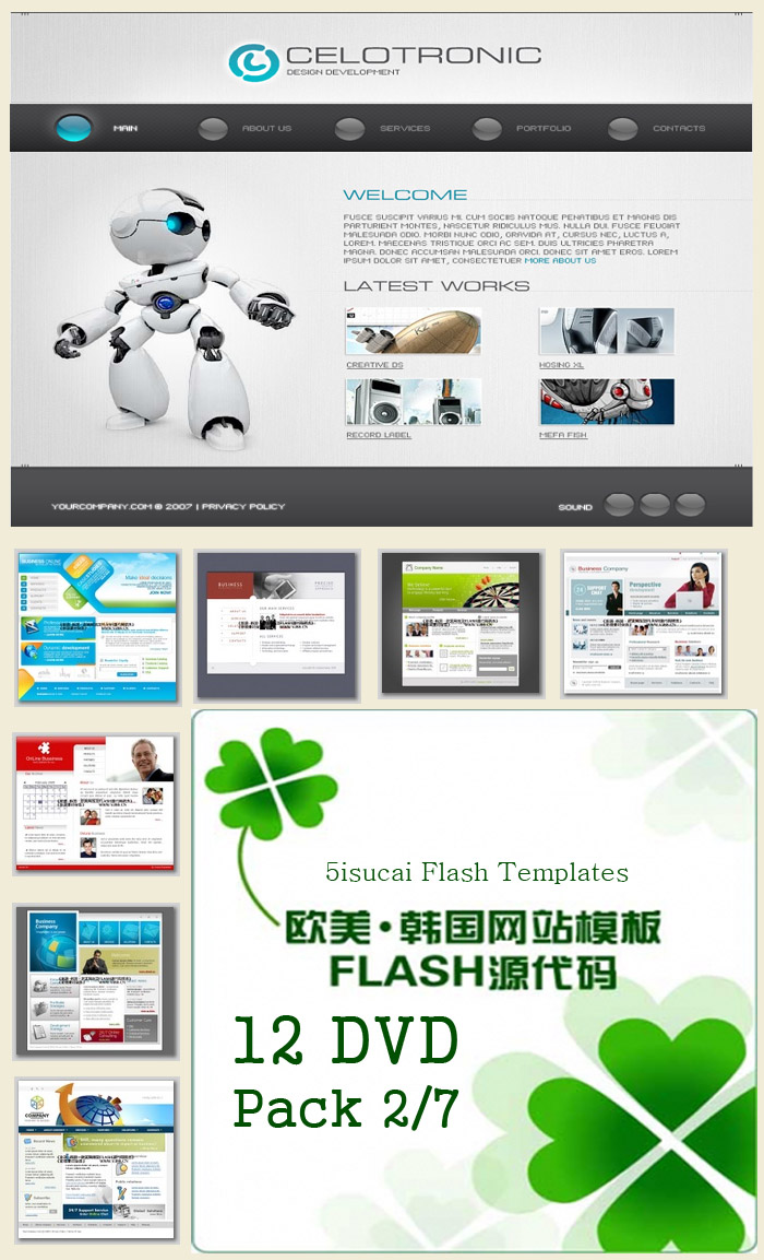 Flash Website Templates Collections DVD 2