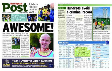 Nottingham Post – September 25, 2017
