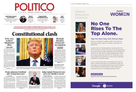 Politico – October 09, 2019