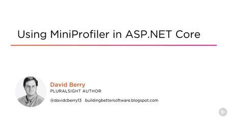 Using MiniProfiler in ASP.NET Core