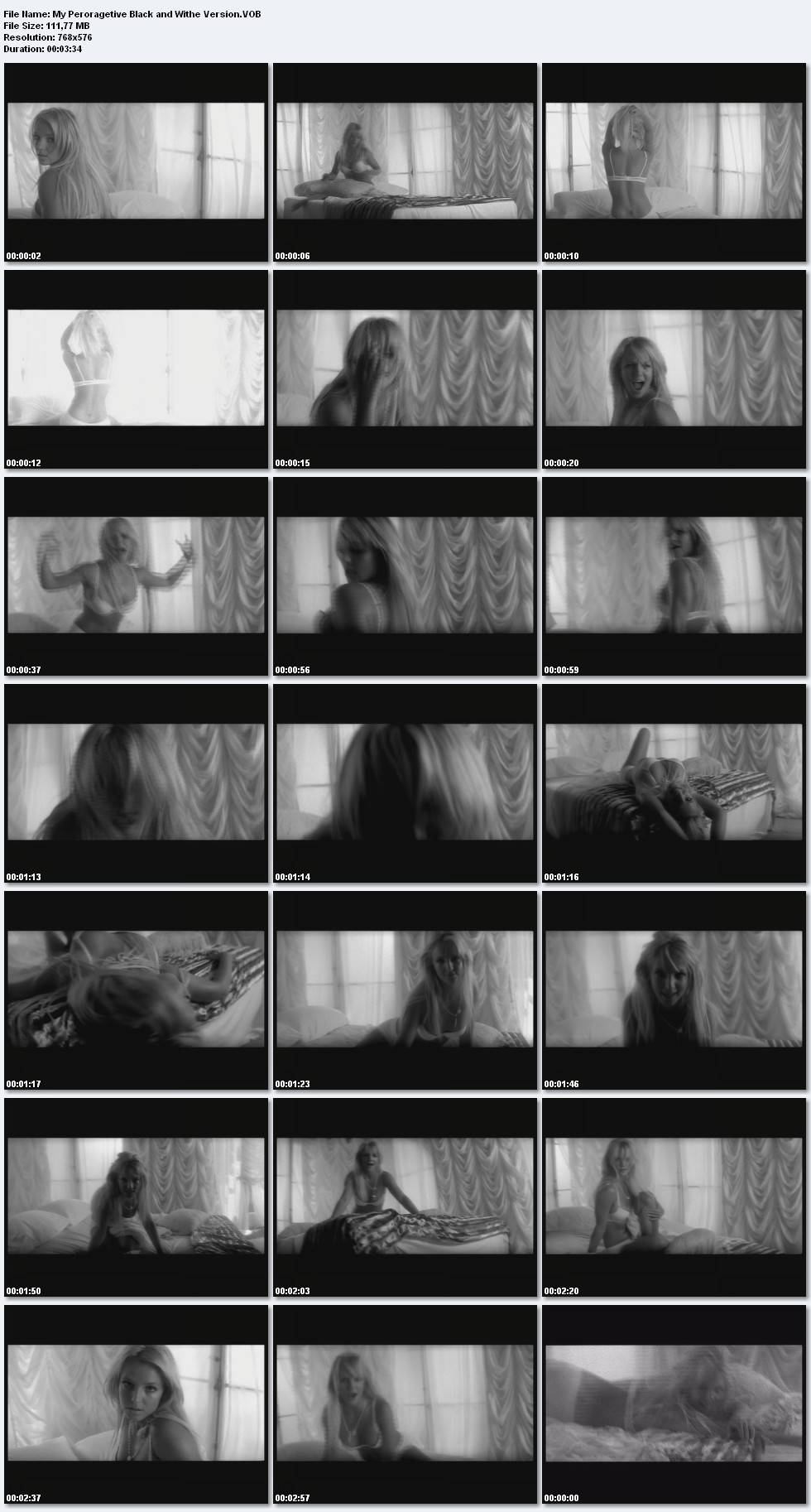 Britney Spears - My Peroragetive -In bed Black and White version