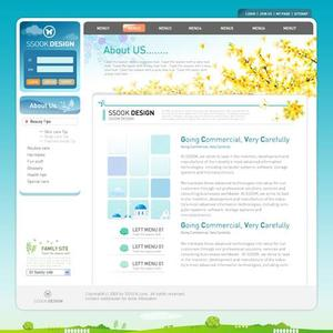 Layout web Template .psd format