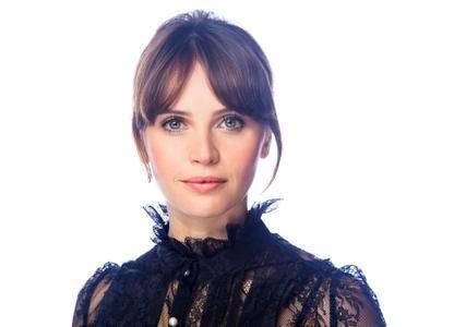Felicity Jones by Kirk McKoy for Los Angeles Times