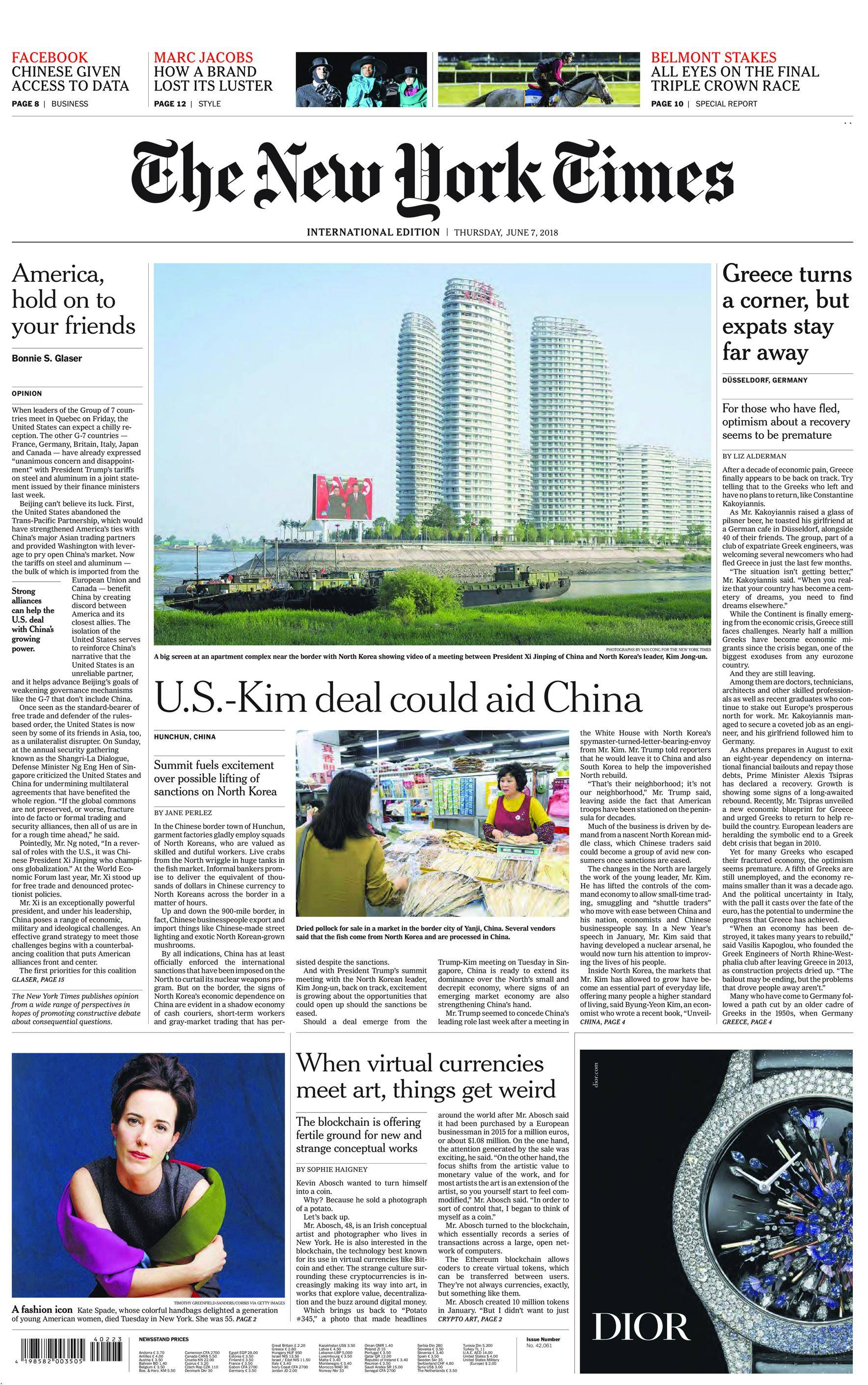 International New York Times - 07 June 2018