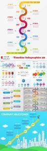 Vectors - Timeline Infographics 59