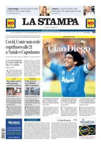 La Stampa Torino Provincia e Canavese - 26 Novembre 2020