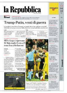 la Repubblica - 12 Aprile 2018