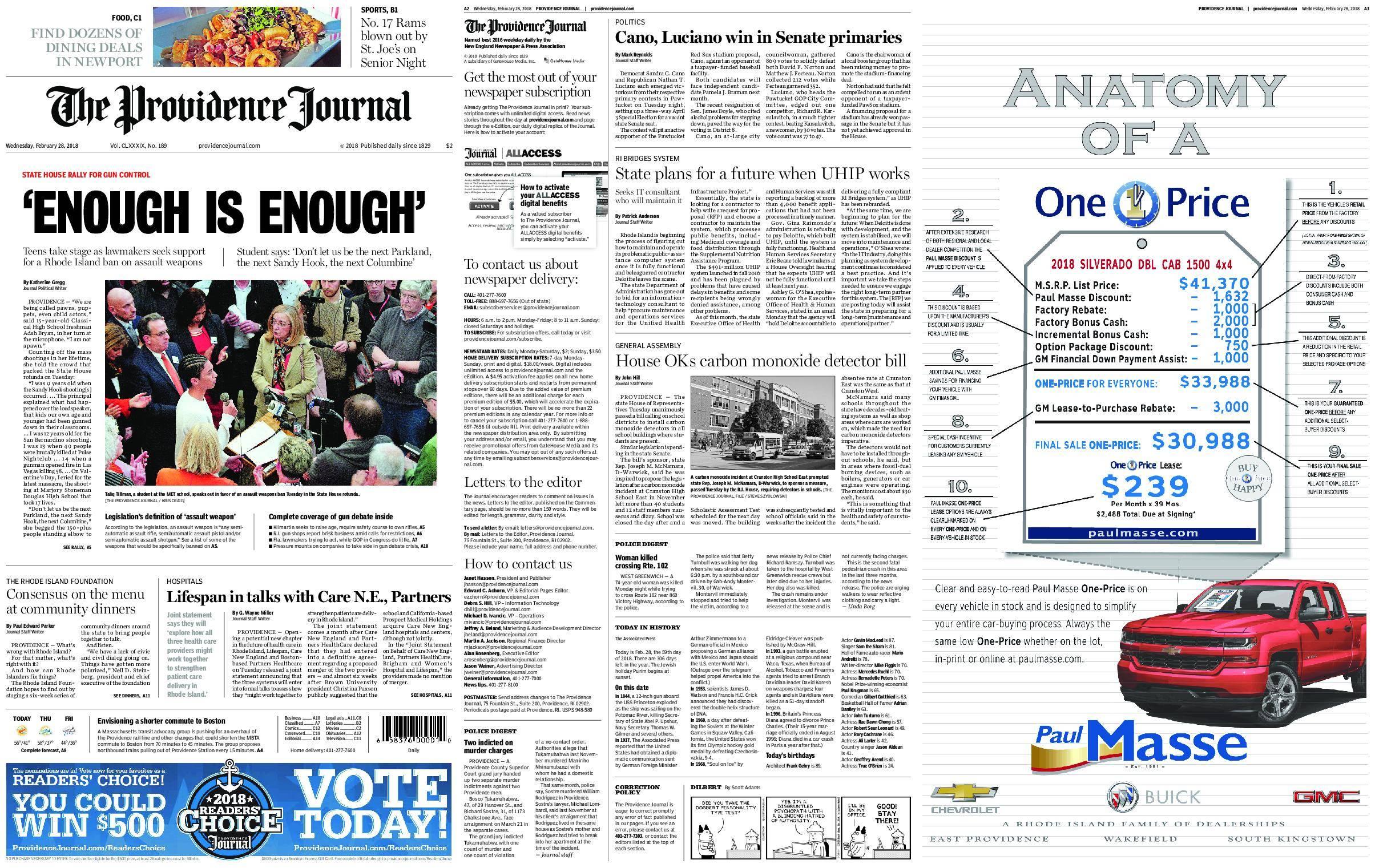 The Providence Journal – February 28, 2018 / AvaxHome