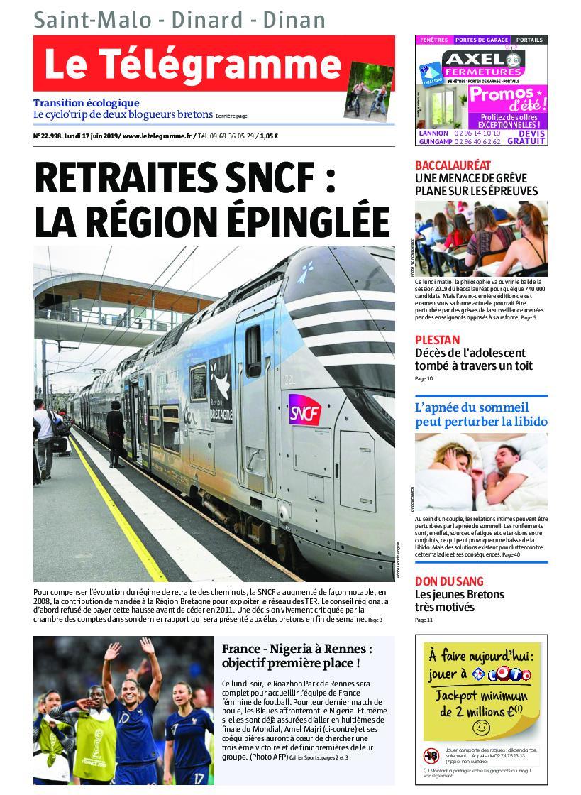 Le Télégramme Saint Malo – 17 juin 2019