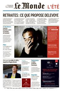 Le Monde du Vendredi 19 Juillet 2019
