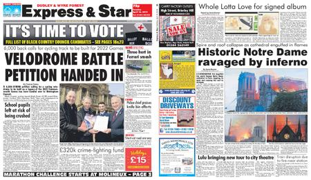Express and Star Dudley and Wyre Forest Edition – April 16, 2019
