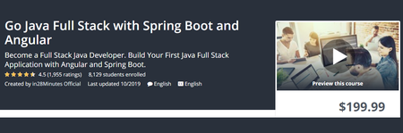 Udemy - Go Java Full Stack with Spring Boot and Angular (2019)