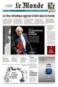 Le Monde du Mercredi 12 Septembre 2018