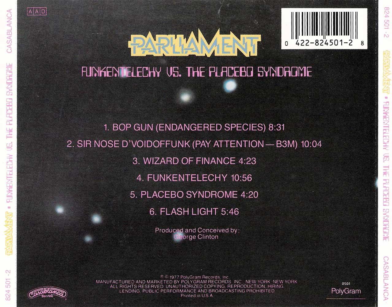 Parliament - Funkentelechy vs. The Placebo Syndrome (1977) {1990 Casablanca} **[RE-UP]**