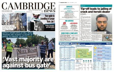 Cambridge News – September 18, 2020