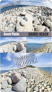 Stock Photo: Gravel beach
