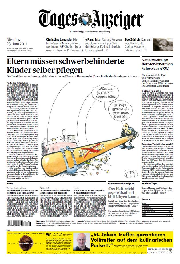 Tagesanzeiger Schweiz 28 06 2011