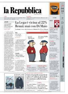 la Repubblica - 29 Aprile 2018