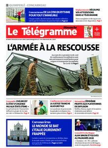 Le Télégramme Concarneau – 22 mars 2020