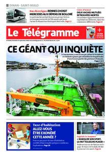 Le Télégramme Saint Malo – 25 septembre 2020