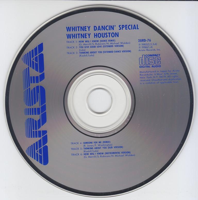Whitney Houston - Whitney Dancin' Special (1986) {Japan 1st Press}