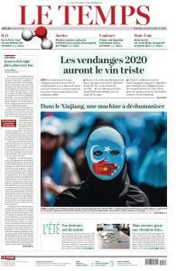Le Temps - 28 Août 2020