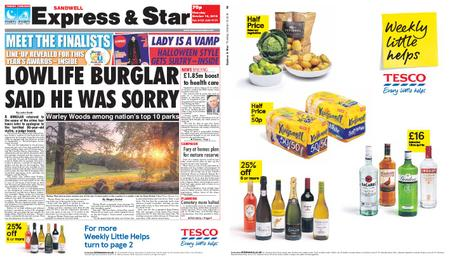 Express and Star Sandwell Edition – October 18, 2018