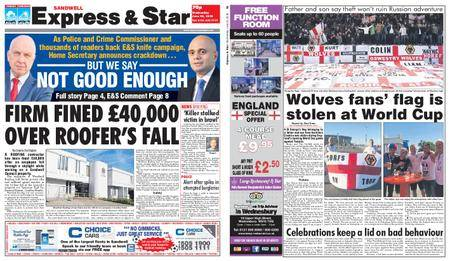 Express and Star Sandwell Edition – June 20, 2018