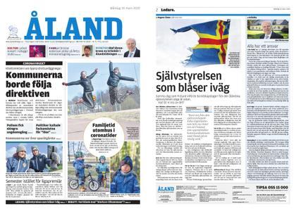 Ålandstidningen – 30 mars 2020