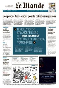 Le Monde du Mercredi 22 Janvier 2020
