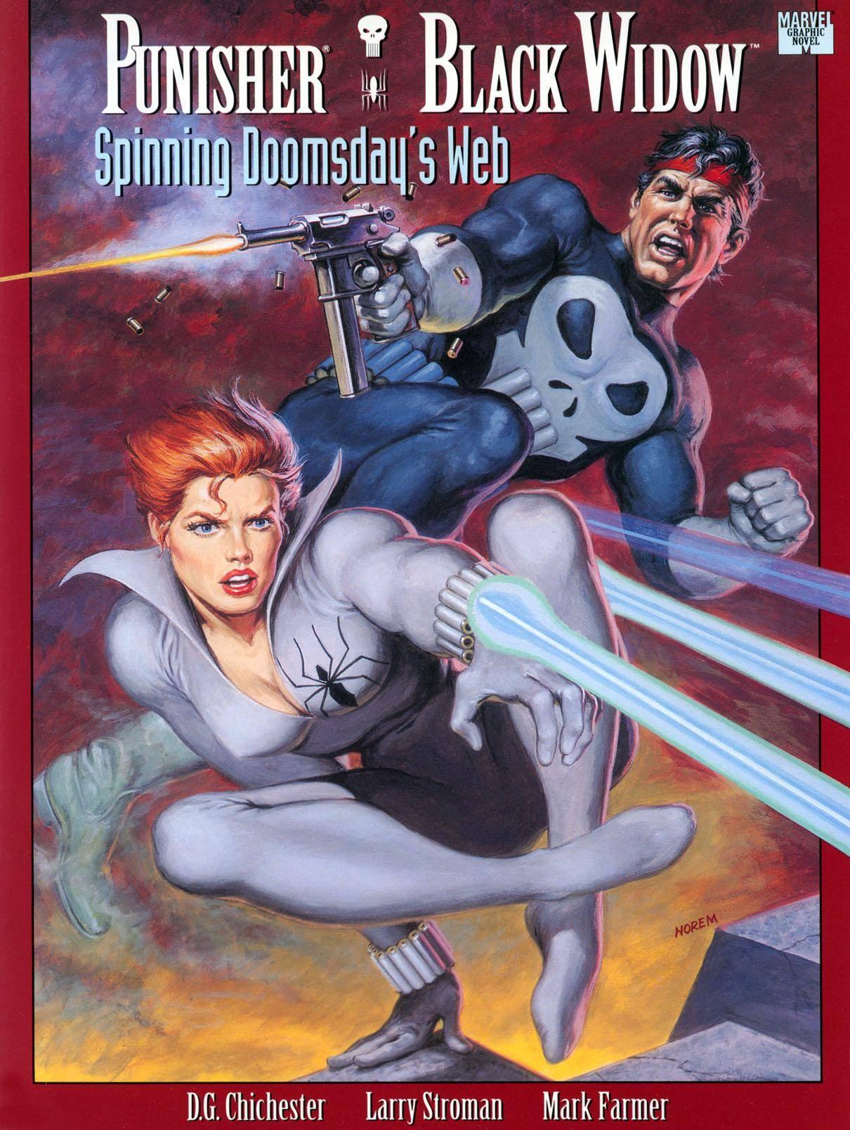 Marvel Graphic Novel 74 - Punisher  Black Widow - Spinning Doomsdays Web 1992
