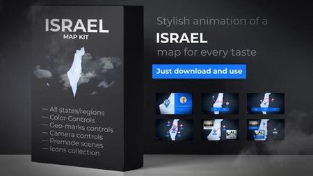 Israel & Palestinian Territories Map - State of Israel Map Kit (VideoHive) 24673149