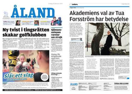 Ålandstidningen – 15 februari 2019