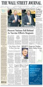 The Wall Street Journal - 20 April 2021