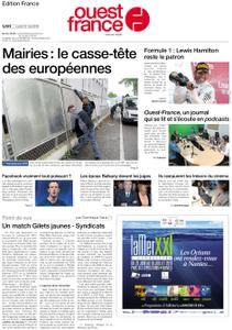 Ouest-France Édition France – 13 mai 2019
