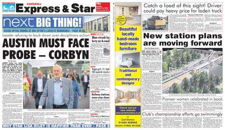 Express and Star Sandwell Edition – August 14, 2018