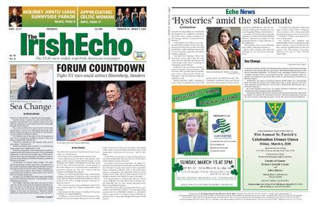 The Irish Echo – February 26, 2020