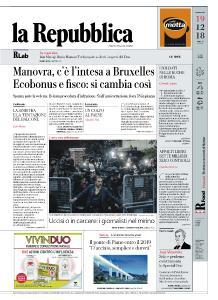 la Repubblica - 19 Dicembre 2018