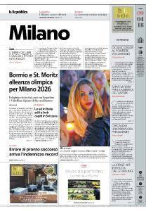 la Repubblica Milano - 9 Aprile 2018