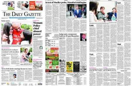 The Daily Gazette – August 01, 2018