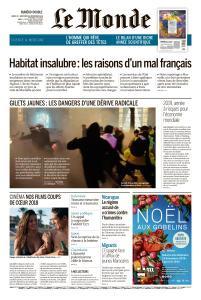 Le Monde du Mardi 25 et Mercredi 26 Décembre 2018