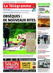 Le Télégramme Landerneau - Lesneven – 01 novembre 2019