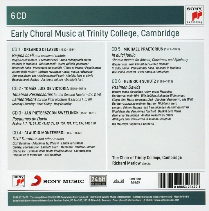 Early Choral Music at Trinity College, Cambridge [6CD] (2016)