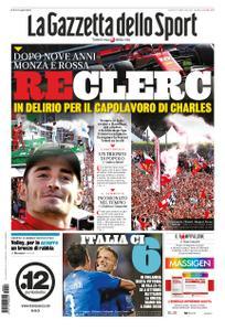 La Gazzetta dello Sport Roma – 09 settembre 2019