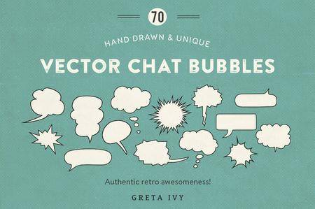 CreativeMarket - Vector Chat Bubbles - New Update